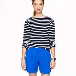 J. Crew Pleated Crepe Royal Blue Shorts